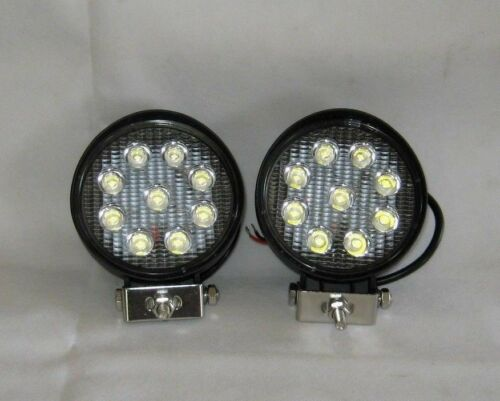 Work Spot Lamps Lights 4 x Universal LED  12 or 24V 27W  Round Wipac S7113LED