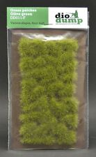 DioDump DD011-F  6mm realistic grass patches OLIVE GREEN diorama scenery