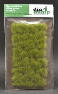 DioDump-DD011-F-6mm-realistic-grass-patches-OLIVE-GREEN-diorama-scenery