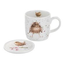 Royal Worcester Wrendale Flying the Nest Mug & Coaster Set Bird Bone China Gift