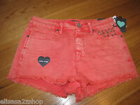 Kendall & Kylie Juniors Womens 11 High Rise Studded Shorts Rn090233 Nwt^^