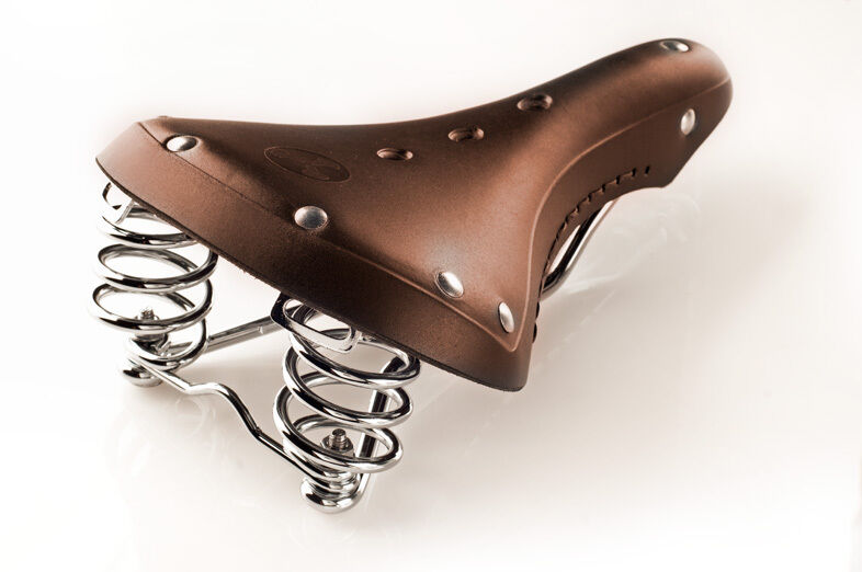 Vintage Classic Retro Genuine Leather Road Touring Bicycle Saddle (Brown)