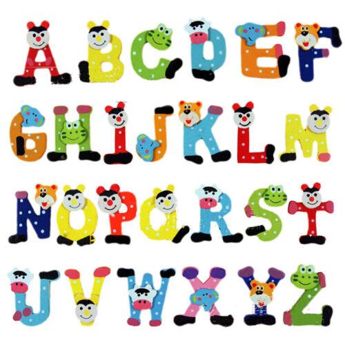 Fridge Wooden Magnet Baby Children Toy A-Z ABC Educational Alphabet 26 LetterSTU