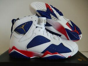 969f71e92cf1fe NIKE AIR JORDAN 7 RETRO OLYMPIC TINKER ALTERNATE WHITE-GOLD SZ 9 ...