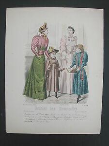 * Page Du Journal Des Demoiselles 1er Decembre 1892 Longue DuréE De Vie