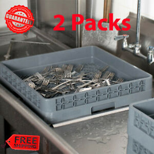 2-Pack-Full-Size-Commercial-Restaurant-Dishwasher-Machine-Flatware-Cup-Rack