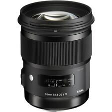 Sigma 50mm F/1.4 DG HSM ART Lens for Nikon DSLR FULL FRAME +4 YEAR USA WARRANTY