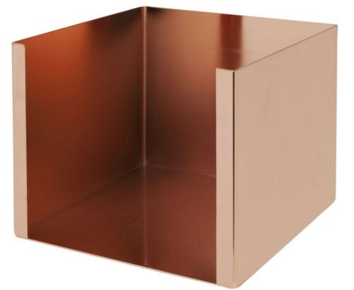 Cocktail Napkin Holder Copper Plated Holds 25cm x 25cm Serviettes Bar Tidy