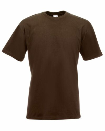 s M L XL 2XL 3XL Fruit Of The Loom Super Premium T-Shirt Men/'s plain tops