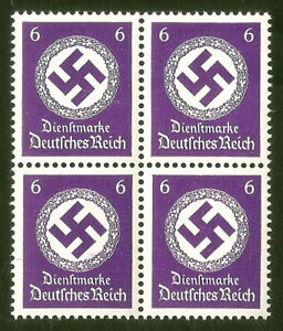 DR-Nazi-3rd-Reich-Rare-WW2-Stamp-Hitler-039-s-Service-Classic-Nazi-NSDAP-Post-Stamp
