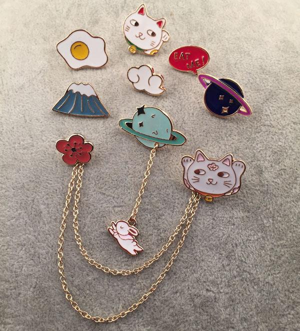 fdd952f122c Fashion Cute Enamel Collar Pin Badge Corsage Cartoon Metal Brooch Pins  Jewelry 3 3 of 12 ...