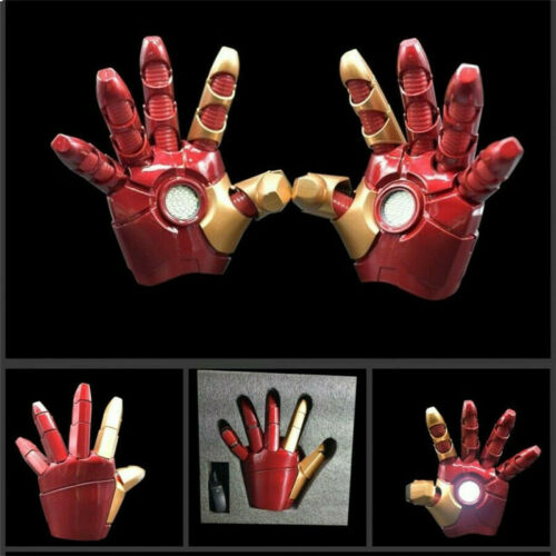 1:1 Iron Man LED Light Gloves MK43 Cosplay Props For Adult Child Toys Collection