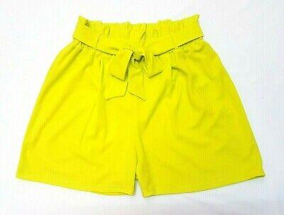 * Nuovo 2019 Look Neon Lime Paperbag Plus Size & Curva Vita Alta Pantaloncini Sacchetto Di Carta *-mostra Il Titolo Originale
