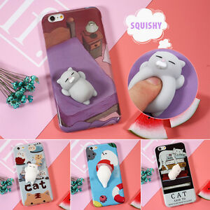 buy online b1f27 d7f6b Details about Squishy 3D Soft Silicone Cat Seal Case Cute Cover for Samsung  Galaxy S8 S8 Plus
