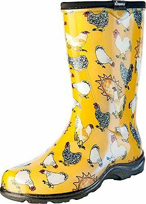 Fashion Style Sloggers Women'srain&gardenchickenprintcollectiongardenboots,size9,daffodilyel High Resilience Gardening Supplies Women's Shoes