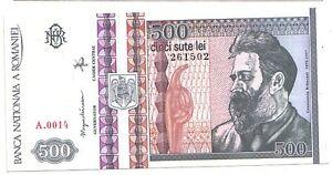 Romania-500-lei-1992-FDS-UNC-Pick-101-a-lotto-3484