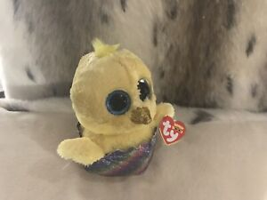 "5461158e224 MEGG THE BEANIE BOO YELLOW EASTER CHICK IN EGG MWMT 6""  WALGREENS ..."