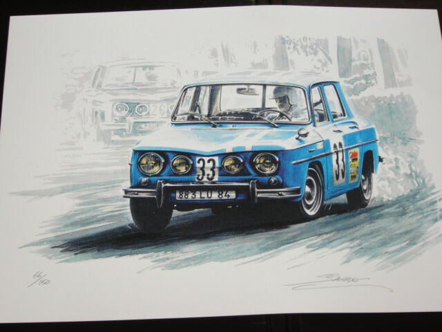 renault 8 gordini coupe 1968 ragnotti by s sauvadet tirage num rot et sign ebay. Black Bedroom Furniture Sets. Home Design Ideas