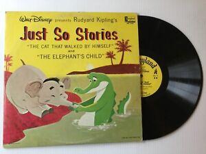 WALT-DISNEY-Just-So-Stories-DQ1268-1964-NM-vinyl-LP-Rudyard-Kipling-bonus-CD