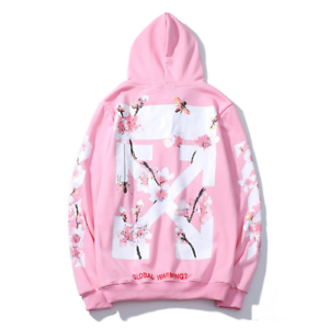 Details zu OFF White Pink OFF Street Wear Jumper Sweatshirt Women Men Loose Hoodie Coat DE