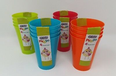 8 x EDGO Pic/&go 4 Pack Plastic Plates Green Pastel Party Event Picnic BBQ Buffet