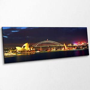Sydney-Harbour-Bridge-Australia-Lit-at-Night-Wide-Canvas-Art-Print-Landscape