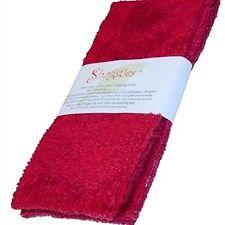 "Janey Lynn Designs Cha Cha Chili Red Shaggies 10""x10"" Cotton Chenille Washcloth"