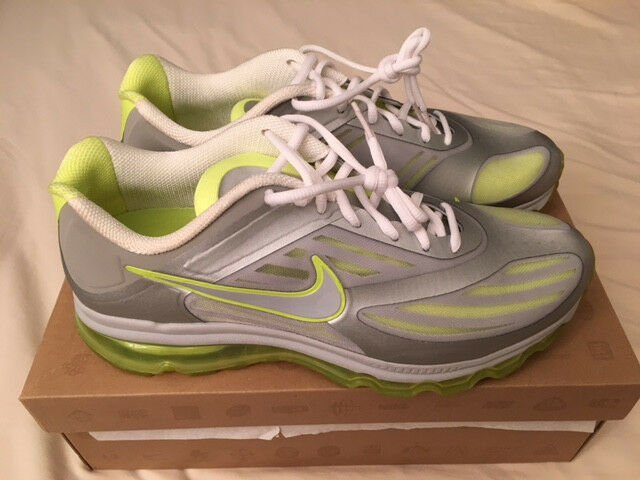 Special limited time NIKE AIR MAX ULTRA MENS 10.5 METALLIC SILVER/VOLT RUNNING SHOES