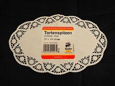 10 x 6 Tortenspitzen = 60 Stück oval aus Papier, Tortenspitze, Tortendeckchen