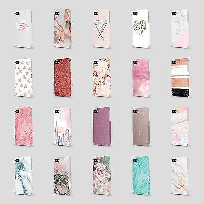 PRINTED GLITTER MARBLE FLORAL DESIGNS CASE HARD COVER FOR HTC