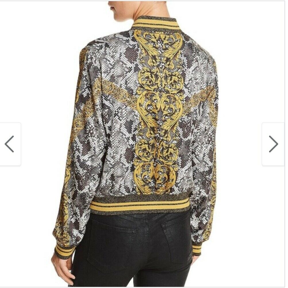 GUESS baroque Rae bomber jacket, women's size Sma… - image 6