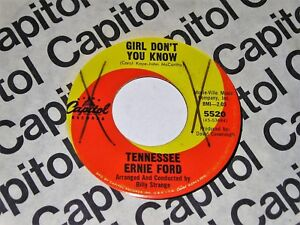 Tennessee-Ernie-Ford-Girl-Don-039-t-You-Know-ORIGINAL-1965-Mod-Popcorn-45-HEAR