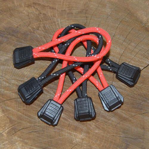 Lot de 3 Paracord Grip Zip tente//Sac tirettes-Réfléchissante-Handmade in UK