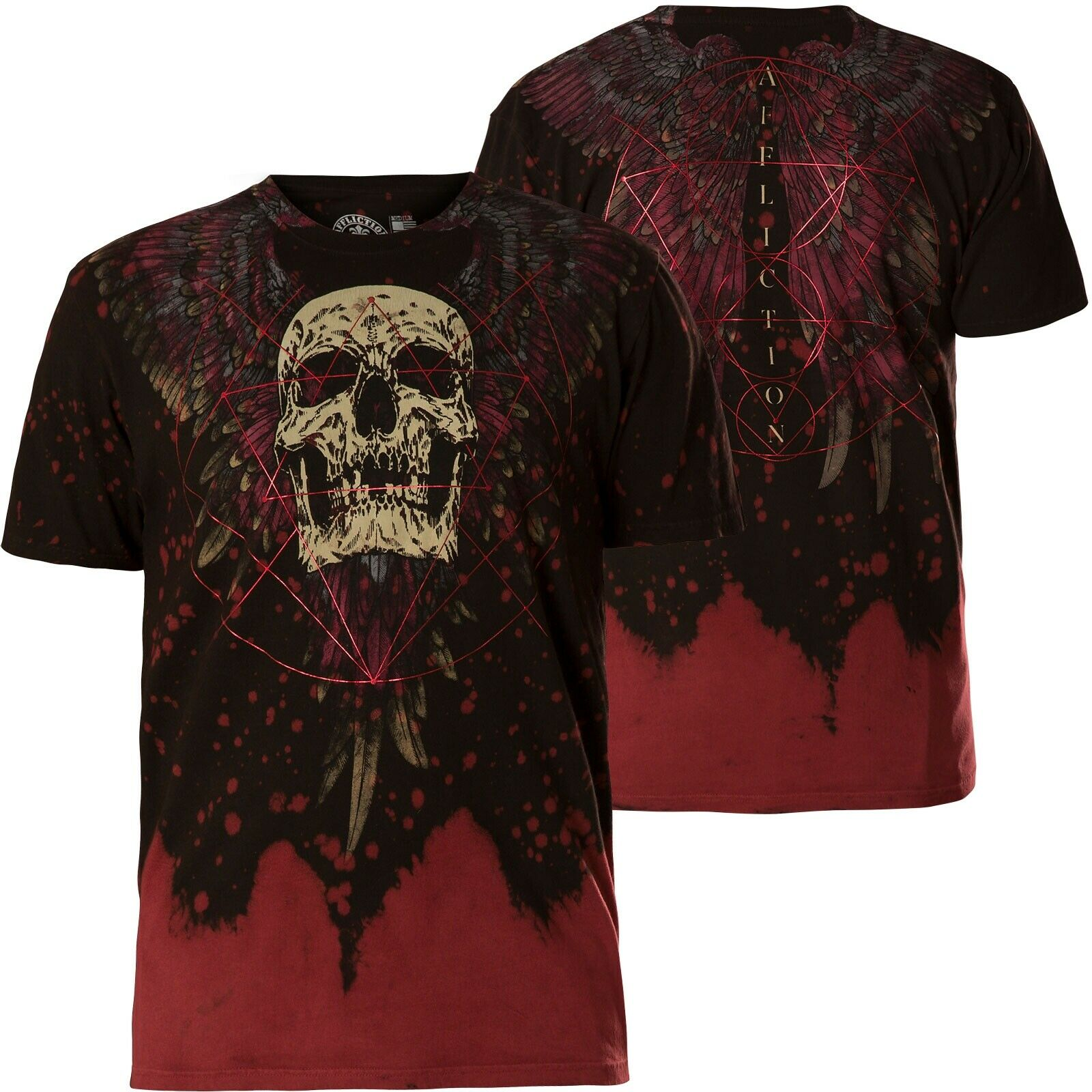 AFFLICTION T-Shirt Unknowable red T-Shirts