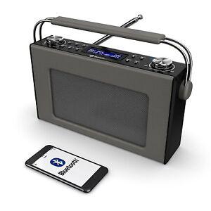 cottenham tragbar dab digital dab fm radio bluetooth leder