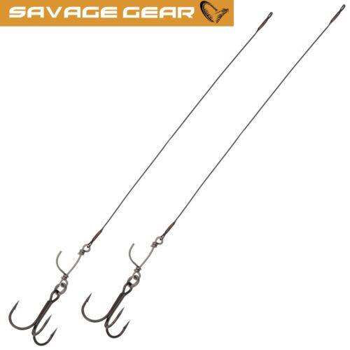 2 Gummifischsysteme Savage Gear 4D Line Thru Trace Stinger für Gummifische