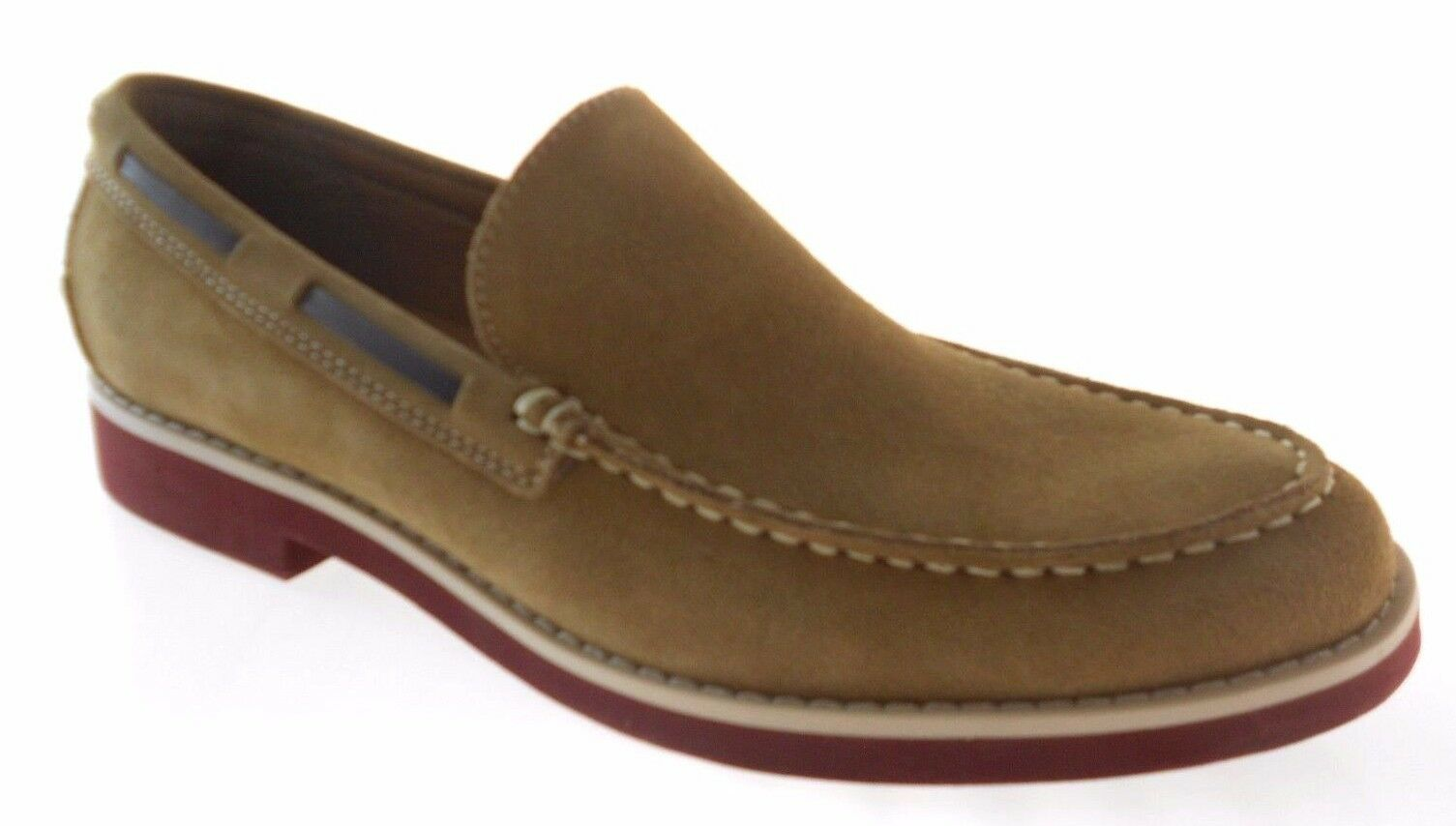 G.H.BASS JAIME MEN'S TAN SUEDE SLIP ON LOAFERS size 8,