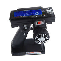 Fs-gt3b 2.4g 3ch Radio Rc Lcd Transmitter &receiver For Rc Car Boat Us Stock