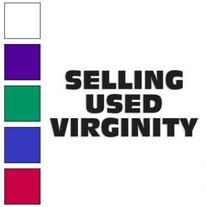 Selling Used Virginity Decal Sticker Choose Color Large Size Lg1866 Ebay