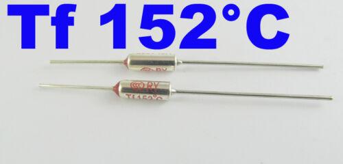 5 Pcs Microtemp Thermal Fuse 152°C 152 Degree TF Cutoff Cut-off 10A AC 250V New