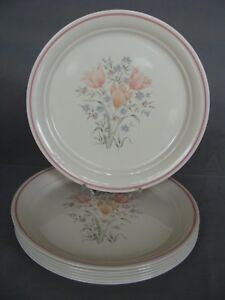 Image is loading 7-Corelle-By-Corning-Dinner-Plates-In-The- & 7 Corelle By Corning Dinner Plates In The French Garden Pattern USA ...