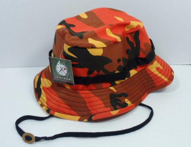8477e8b76fc90 Boonie Hat Orange Camouflage Jungle Hat 5549 Rothco Quality Medium ...