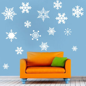 Removable-Snowflakes-Wall-Decal-Christmas-Winter-Snowing-Snow-Beautiful-Art-d28