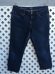Cultivo Original Ann Taylor Loft Recortada Pantalones Jeans Capris Fit Original Talla 8 Ebay