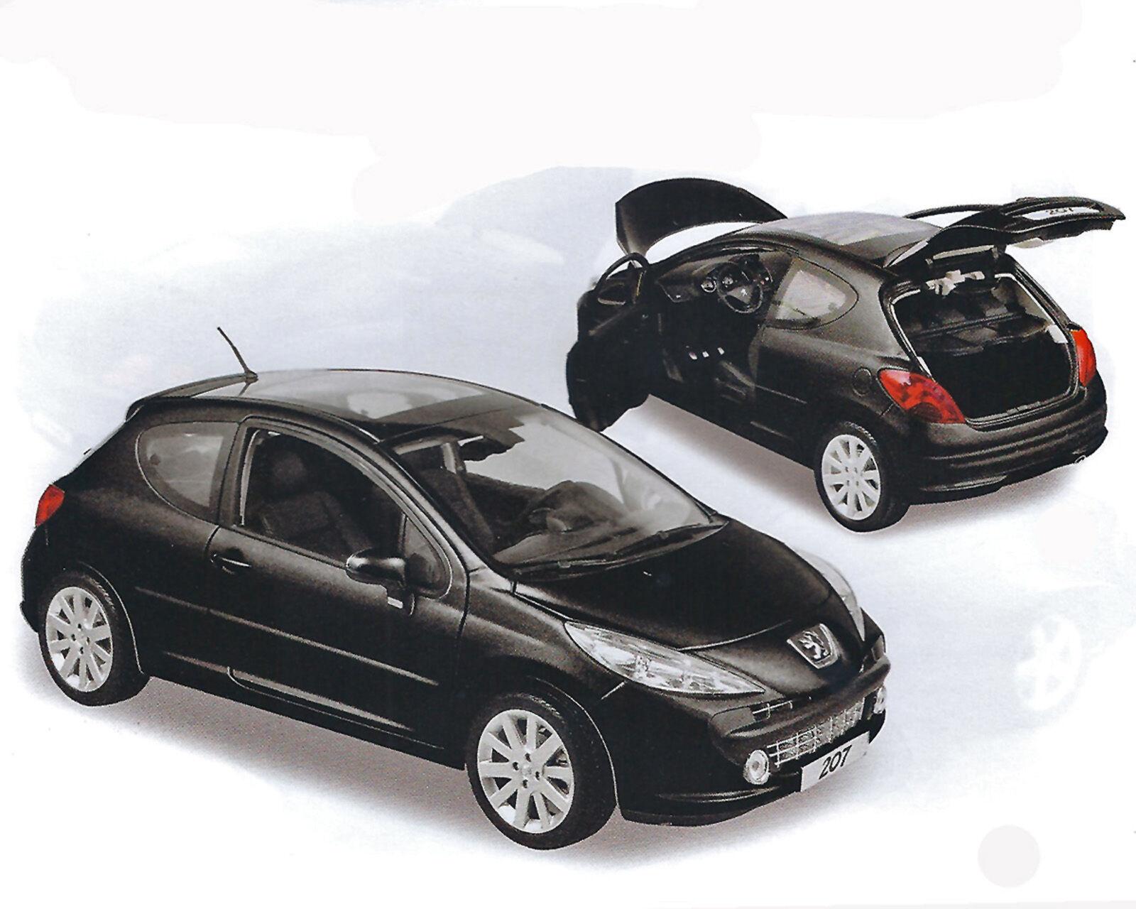Peugeot 207, nero, norev, 1 18