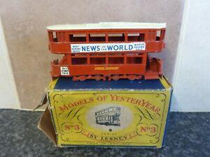 Vintage-Lesney-Matchbox-No-3-clase-e-tranvias-noticias-del-mundo-en-Caja