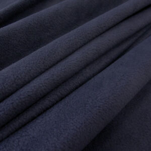 stoff meterware polar fleece antipilling knitterfrei marine blau dunkelblau ebay. Black Bedroom Furniture Sets. Home Design Ideas