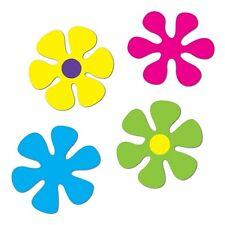 **4 Large FAR-OUT 60's RETRO FLOWER Die-cut Decorations*60's Peace HIPPIE Party*