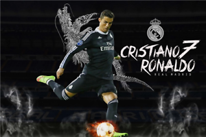 New Football Madrid Posters Cristiano Ronaldo Wall Sticker Cr7 Soccer Wallpaper Ebay