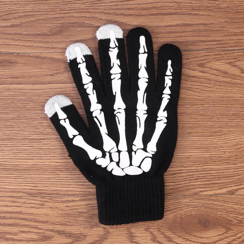 1pcs Touch Screen Unisex Winter Knitting Skeleton Claw Glove for Men